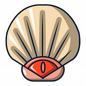 Sea Shell Icon. Cartoon Illustration Of Sea Shell Icon For Web poster