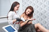 Laser Epilation And Cosmetology At Cosmetic Beauty Spa Clinic. Hair Removal Cosmetology Procedure Fr poster