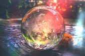 Beautiful Crystal Ball Or An Abstract Circle. Magic Ball. Glass Ball. poster