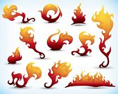 picture of fiery  - collection of fiery design elements - JPG