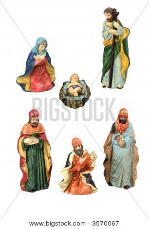 Elementos de diseño de Navidad Natividad