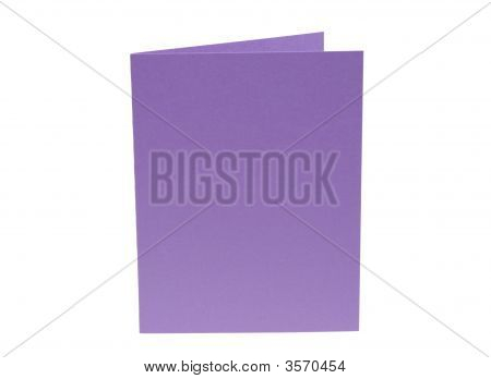 Bright Purple Blank Card