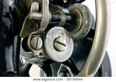 Background Of A Section Of An Old Sewing Machine