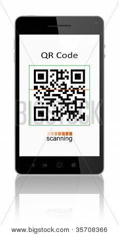 Código QR no telefone inteligente