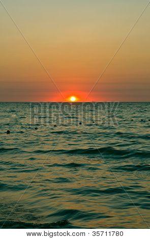 Disminución en el mar