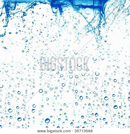 Wasser-Blasen, isolated on white background