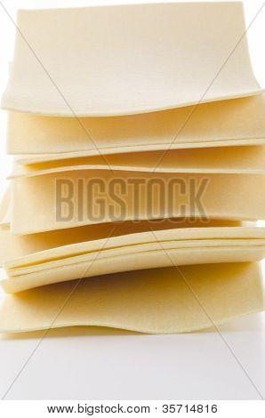 Homemade Lasange Sheets From Wheat Semolina