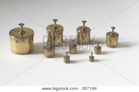 Old Brass Weights