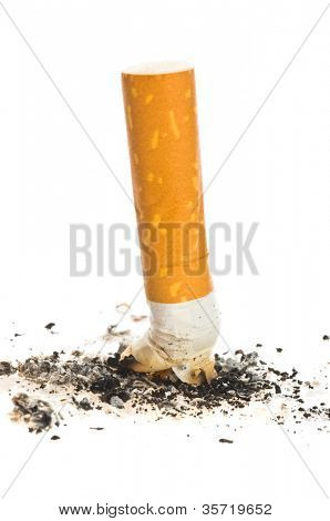 Cigarette butt/ on isolated