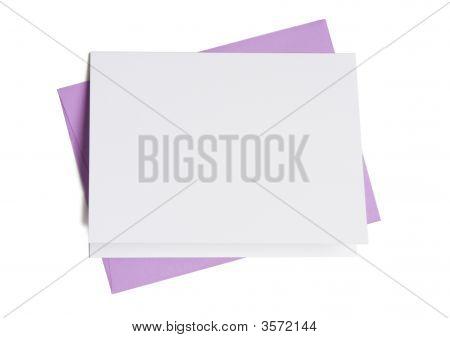 Blank Card With Lavendar Envelope