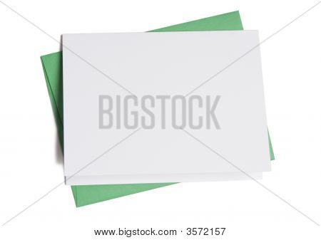 Blank Card With Green Envelope