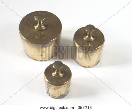 Pesos de bronze antigo