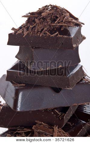Scheiben schwarz bitter-Schokolade