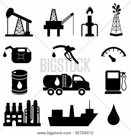 Oil Industry Icon Set