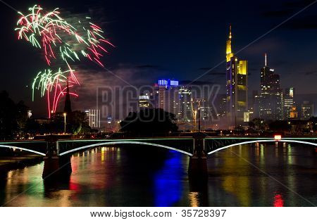 Firework Over Frankfurt