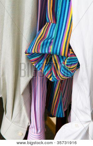 Multi-coloured man's shirts