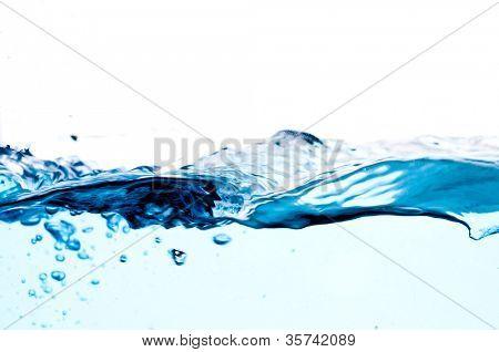 fresh clean water splash. macro