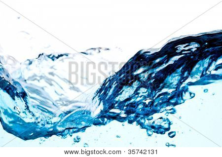 fresh clean water splash. macro