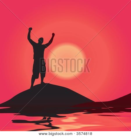 Victory At Sunset