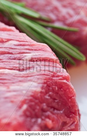 fresh meat on slice