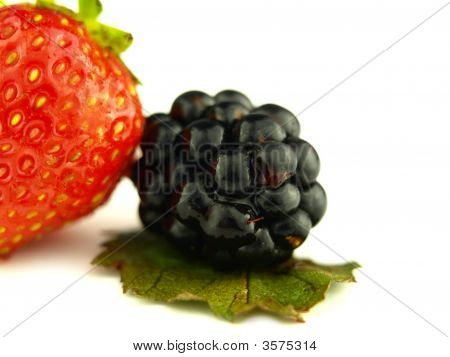 Blackberry And Strawberry Very Close