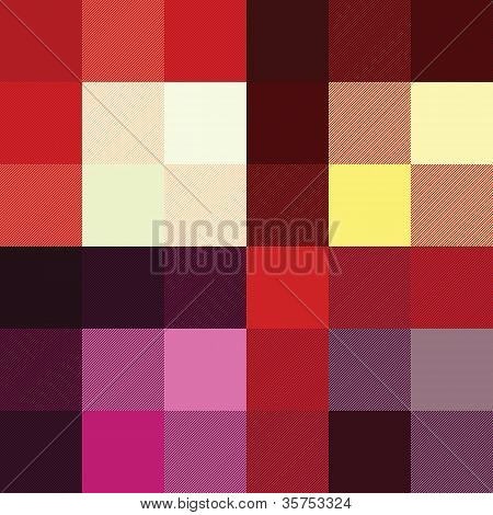 Checkered Pattern Four Red Color Options
