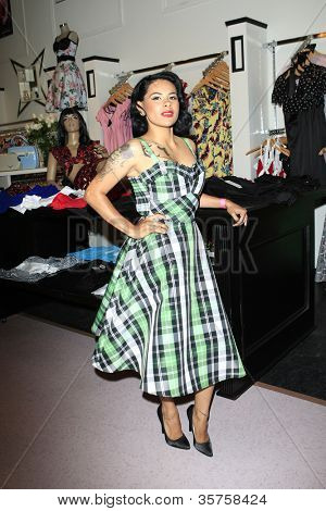 LOS ANGELES - AUG 3: Carla Ramirez at the opening of the 'Pinup Girl Boutique' on August 3, 2012 in Burbank, California