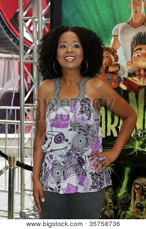 """LOS ANGELES - AUG 5:  Tempestt Bledsoe arrives at the """"ParaNorman"""" Premiere at Universal CityWalk on August 5, 2012 in Universal City, CA"""