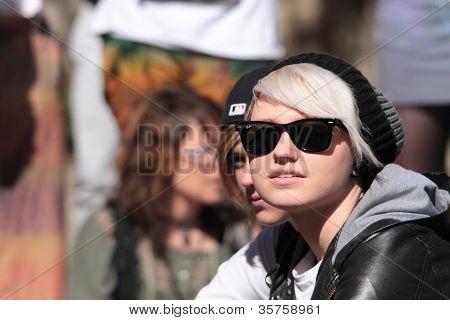 Brisbane, Qld Australia - August 11 : Unidentified Woman In Crowd On August 11 2012  In Brisbane, Au