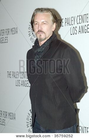 """BEVERLY HILLS - MARCH 7: Tommy Flanagan arrives at the 2012 Paleyfest """"Sons of Anarchy"""" panel on Wednesday, March 7, 2012 at the Saban Theater in Beverly Hills, CA."""