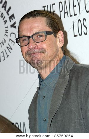 "BEVERLY HILLS - MARCH 7: Kurt Sutter arrives at the 2012 Paleyfest ""Sons of Anarchy"" panel on Wednesday, March 7, 2012 at the Saban Theater in Beverly Hills, CA."