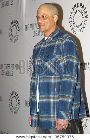 "BEVERLY HILLS - MARCH 7: David Labrava arrives at the 2012 Paleyfest ""Sons of Anarchy"" panel on Wednesday, March 7, 2012 at the Saban Theater in Beverly Hills, CA."
