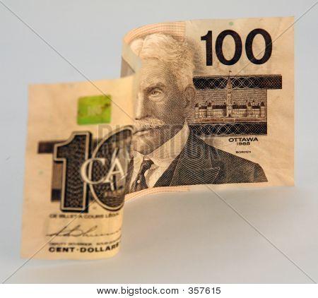 kanadische Geld 100 100-Dollar-Schein