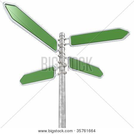 Green Street Sign.