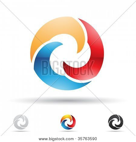 Vector illustration of abstract icons based on the letter O