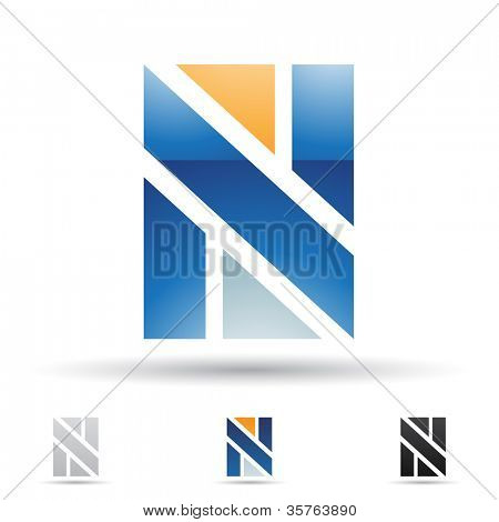 Vector illustration of abstract icons based on the letter N