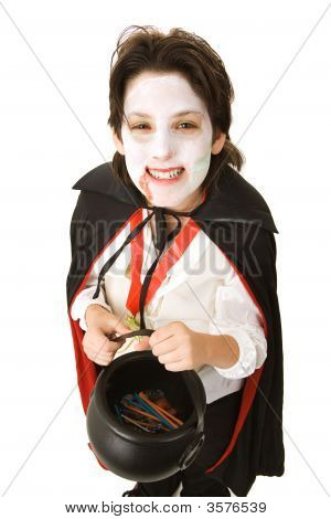 Halloween Vampire With Candy