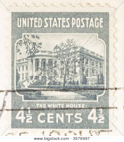 Vintage Usa 1938  White House Usa Postage Stamp