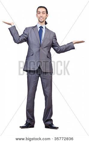 Kaufmann posieren für konzeptionelle Foto