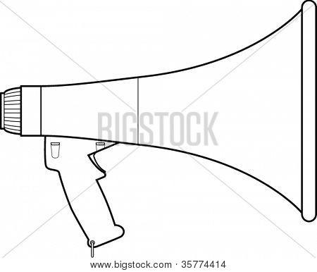 bullhorn or megaphone line art