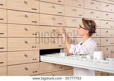 Young Girl Pharmacist