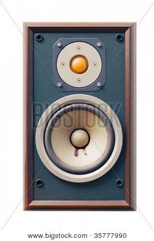 studio monitor speaker isolated on white