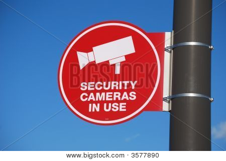 Security Camera In Use