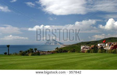 Alcadaisa Golf Course In Southern Spain And Views To Gibraltar