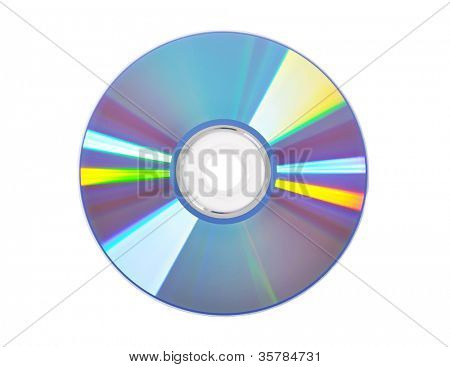 Blue DVD disk isolated