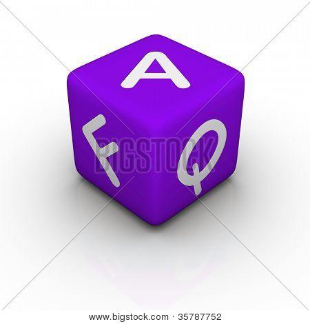 FAQ (blue cubes words series)