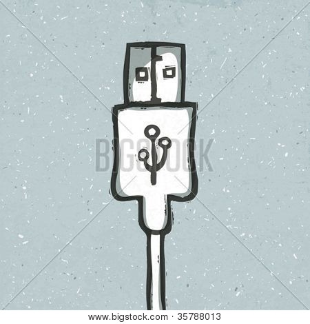 Portable device concept illustration. Vector, EPS10