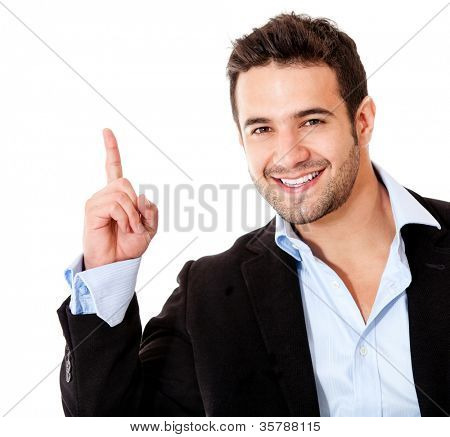 Number one business man - isolated over a white background