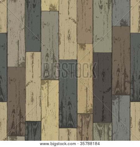 Wooden multi-color planks. Seamless pattern, vector illustration, EPS10