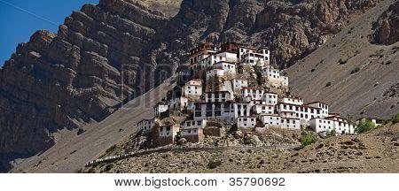 Ki monastery in himalayas mountain